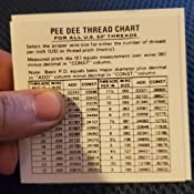 MADE BY FISHER USA -SET #16 PEE DEE BRAND THREAD WIRE SET NEW