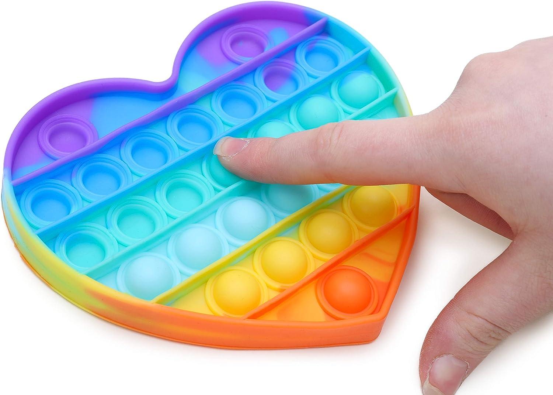 Toyland Rainbow Colour Push Bubble Pop Bubble Sensory Fidget Toy