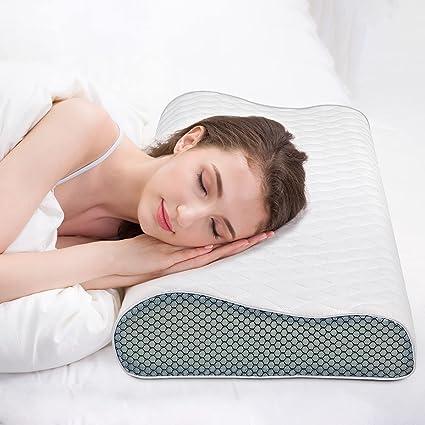 Fityou Cuscino Memory Foam Regolabile In Altezza 60 X 35 Cm Cuscino Ortopedico Di Supporto Cervicale