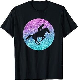 Saut d'obstacles Cheval pour Filles et Femmes T-Shirt