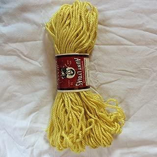 Aunt Lydia's Yellow Cotton Rayon Heavy Rug Yarn