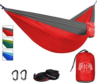 Hiker Hunger Premium Outdoor Hammock - Large Double Size,  Portable & Ultra Light