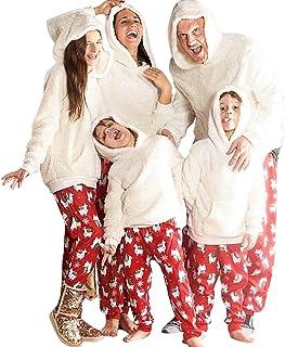 Conjunto de pijama de Navidad con diseño de familia de ositos de peluche, con capucha y pantalón de pijama unisex, para invierno, hombre, mujer y niños