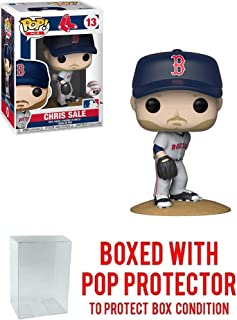 POP! Sports MLB's Boston Red Sox, Chris Sale Road Jersey Action Figure (Bundled with Pop Box Protector to Protect Display Box)