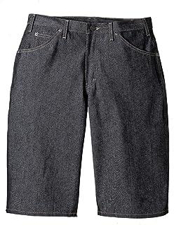 Dickies Black Denim Loose Fit Work Shorts