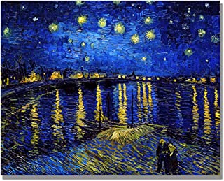 Eliteart- Starry Night Over The Rhone by Vincent Van Gogh Oil Painting Reproduction Giclee Wall Art Canvas Prints
