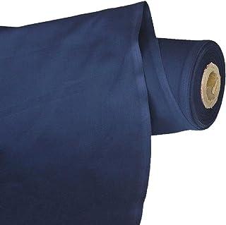 TOLKO Baumwollstoff | 42 kräftige ÖkoTex Farben Baumwoll-Nesselstoff uni Kleiderstoff Dekostoff | Baumwolle Meterware 150cm breit | Vorhang-Stoff Bezugsstoff Webstoff 50cm Marine-Blau