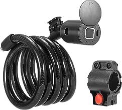 SEAAN - USB Smart fietsslot, met vingerafdruk of Bluetooth waterdichte telefoon app Smart Alarm Anti Theft Lock