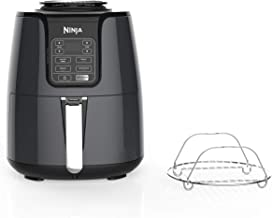 Ninja Air Fryer, 1550-Watt Programmable Base for Air Frying, Roasting, Reheating & Dehydrating with 4-Quart Ceramic Coated...