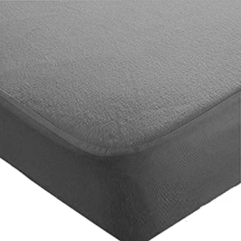 Trance Economy Terry Waterproof Mattress Protector King Size (Grey; 78 x 72 inch Mattress Cover)