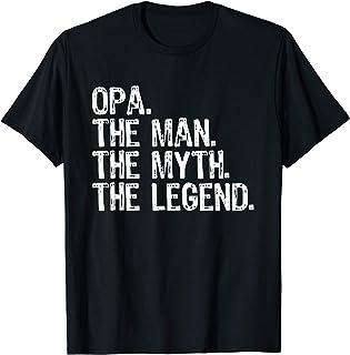 Opa The Man The Myth The Legend Grandad Gift Christmas T-Shirt