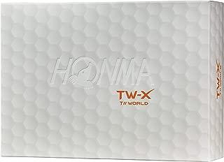 本間ゴルフ ゴルフボール TW-X TW-X BT-1802 ホワイト