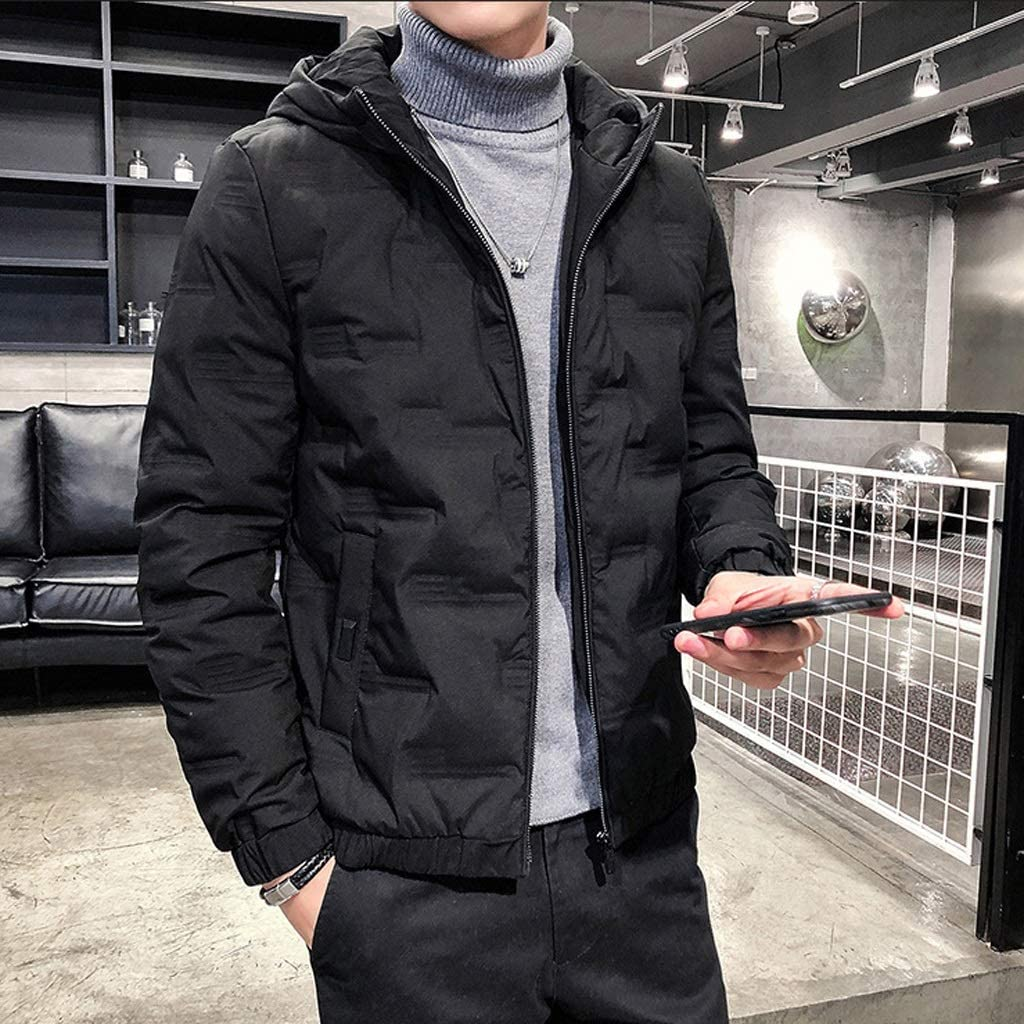 AMYAL Men's 5 ☆ very popular Down Jacket Padded White Winter Win Duck Special price for a limited time Hooded