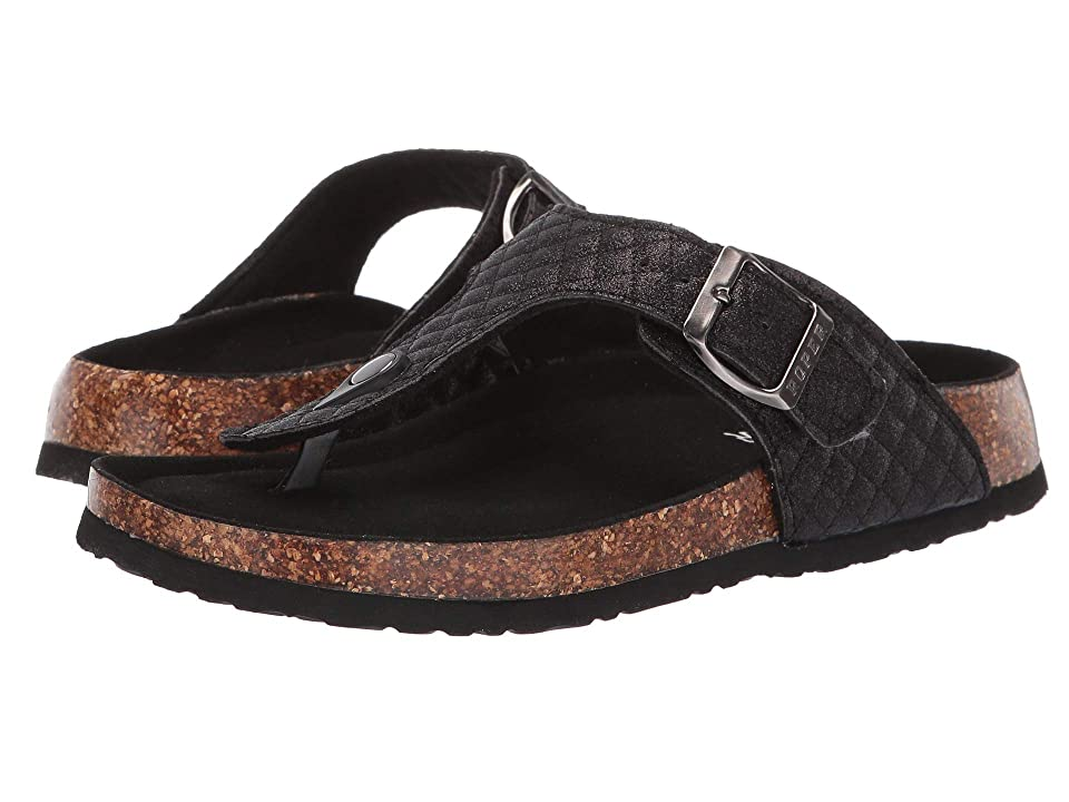 Image of Roper Tabitha (Black Quilted Faux Leather) Women's Sandals