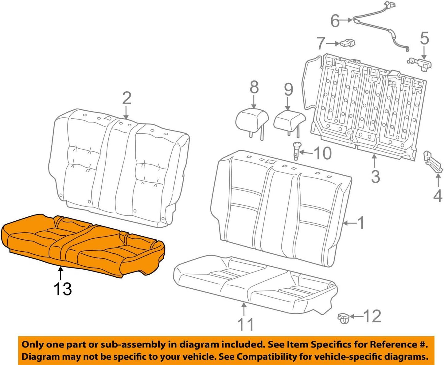 Honda supreme Genuine 82131-T3L-A21ZB Seat Cover Rear Cushion Trim Gifts