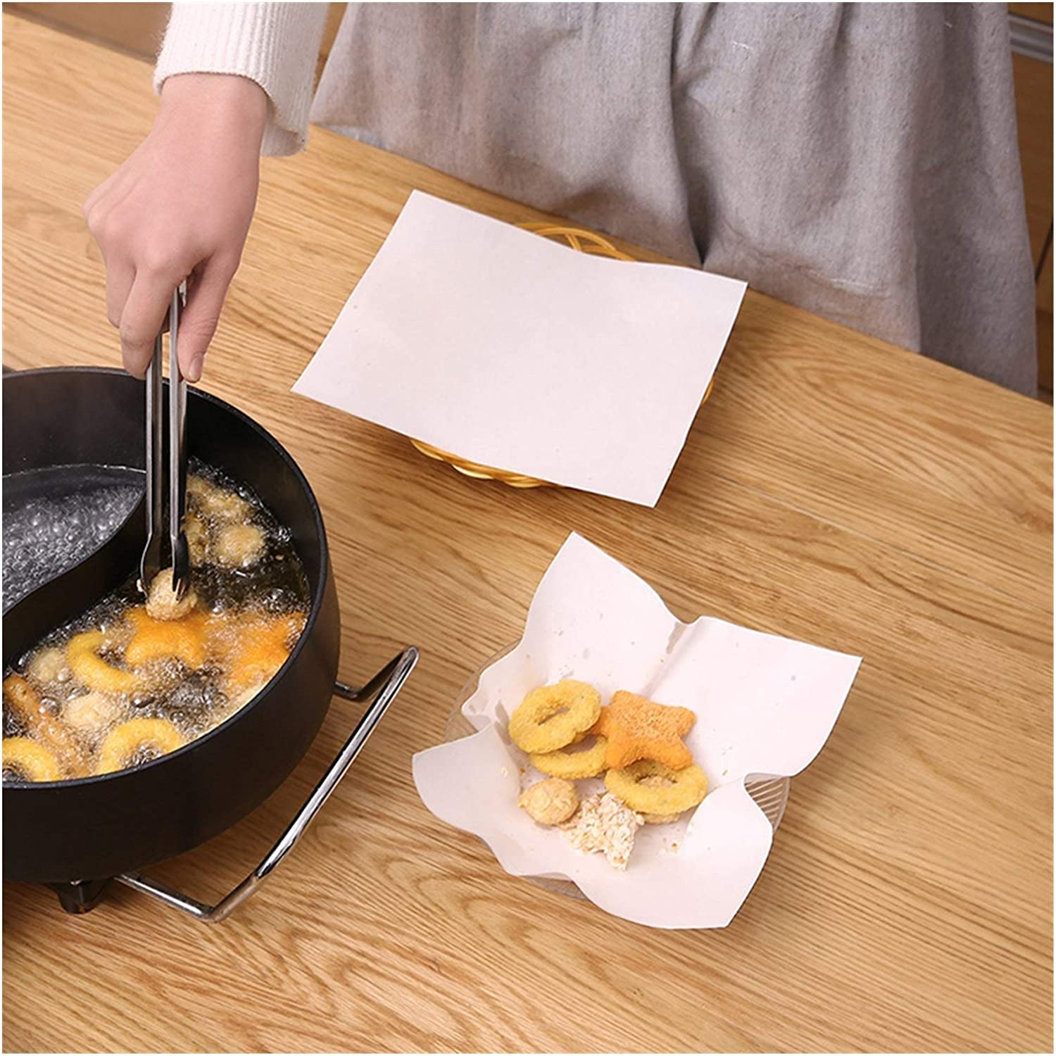 Limited time sale Baby Fan 50pc Square Food Blotting Baking for BB Mat Ranking TOP8 Pizza Paper