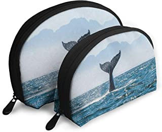 Makeup Bag Whale Tail Handy Shell Cosmetic Bags Case For Women