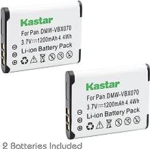 Kastar 2 Pack Replacement DB-L80 Li-Ion Battery for Sanyo Xacti DMX-CG11 / VPC-CG10 / VPC-CG102 / VPC-CG20 / VPC-CS1 / VPC-GH2 / VPC-X1200 / ICR-XPS01MF / ICR-XPS03MF / ICR-XRS120MF Cameras