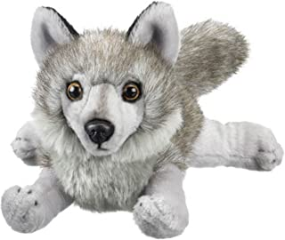 Gray Wolf Stuffed Animal Plush Toy 18-in L