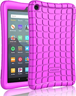 Cuauco Silicone Case for All-New Amazon Fire 7 Tablet(9th Generation, 2019 Release)-[Kids Friendly] Light Weight [Anti Slip] Shock Proof Protective Cover for All-New Fire 7 Tablet(7