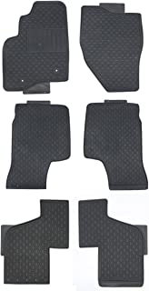 TMB Motorsports Black Rubber All Weather Floor Mats for 2011 Up Ford Explorer