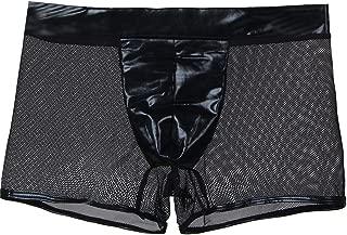 K-Men Mens Sexy Mesh Black Underwear Breathable Jockstrap Boyshorts Boxer Brief