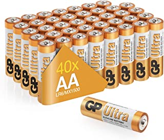 AA Batteries Pack of 40 GP Batteries|Superb operating time 1.5V - Mignon - LR06 - MN1500-15A- AM3