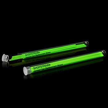 """ShopStraw SS-5/2 Combo Pack Aerosol Can Replacement Straws, 5"""", Neon Green, 20 Count"""