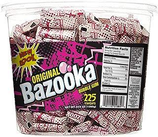 Bazooka Individually Wrapped Bubble Gum, Original Flavor, 225Count Halloween Bulk Tub