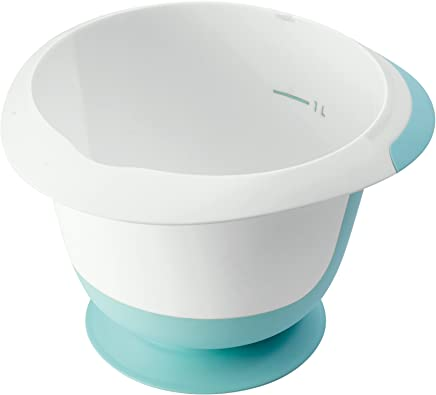Preisvergleich für keeeper Rührschüssel mit Saugnapf und Anti-Rutsch-Oberfläche, BPA-freier Kunststoff, 1,5 l, Mariella, Mintgrün/Weiß