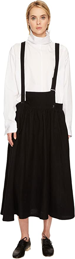 S-Fr Gathered Skirt Overalls
