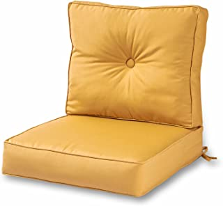 Greendale Home Fashions Outdoor Sunbrella Deep Seat Chair Cushion Set, Wheat
