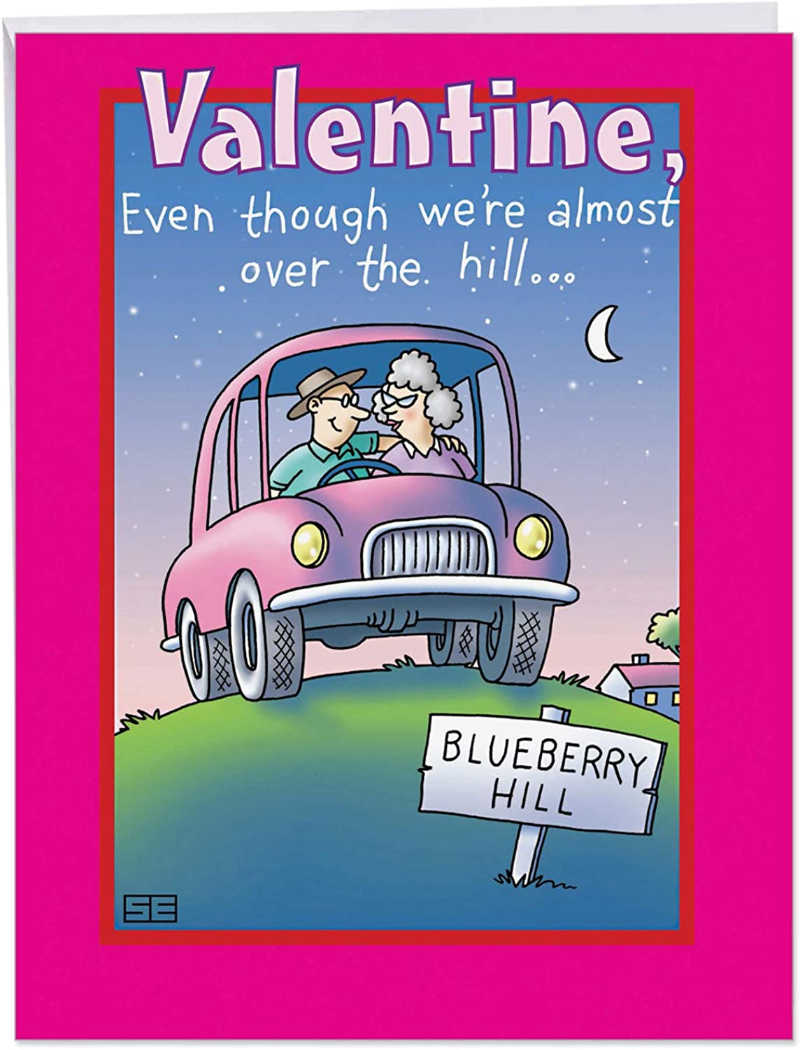 Over The Hill My Thrill Valentine 's Day Funny Grußkarte 1 Jumbo Valentine's Day Card & Enve. (J2427) 1 Jumbo Valentine's Day Card & Enve. (J2427) B00RD7NG18   Attraktive Mode