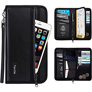 Chris.W Vintage Passport Holder Wallet for Men and Women PU Leather Travel Case Waterproof Cover