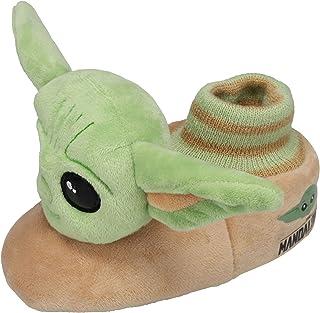 Star Wars, Baby Yoda Toddler Slippers, Green, Toddler Sizes 3/4 to 9/10
