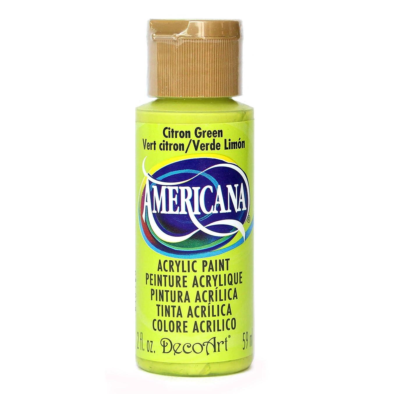 DecoArt Americana Acrylic Paint, 2-Ounce, Citron Green