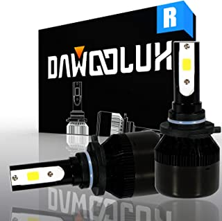 Dawoolux 9005 LED Headlight Bulbs Conversion Kit with 2 Pcs of HB3 LED Bulbs 60W 6400lm Cool White(Pack of 2)