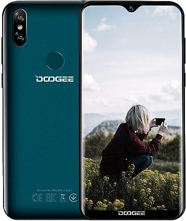 Móvil Libres 4G, DOOGEE Y8 Smartphone Libre 6.1 Pulgadas de Pantalla 19: 9 con caída de Agua Android 9.0 MT6739 3GB / 16GB Dual Nano SIM 8 + 5MP Cámara, ID de la Cara Huella Digital Telefonos (Verde)