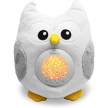 Bubzi Co Baby Spielzeug Spieluhr Baby Nachtlicht & Beruhigende Sound-Maschine & Babyparty Geschenk Tragbare Spielzeug Eule mit 10 beliebten Schlafliedern Kindermusik & Weißes Rauschen zum Einschlafen