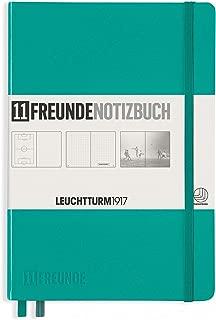Leuchtturm1917 Hardcover A5 Medium | 11 Freunde Notizbuch Dotted Notebook | Emerald