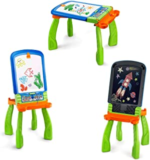 VTech DigiART - Caballete PequeARTista 3 en 1, pizarra electrónica interactiva que se transforma en tres juguetes, caballe...