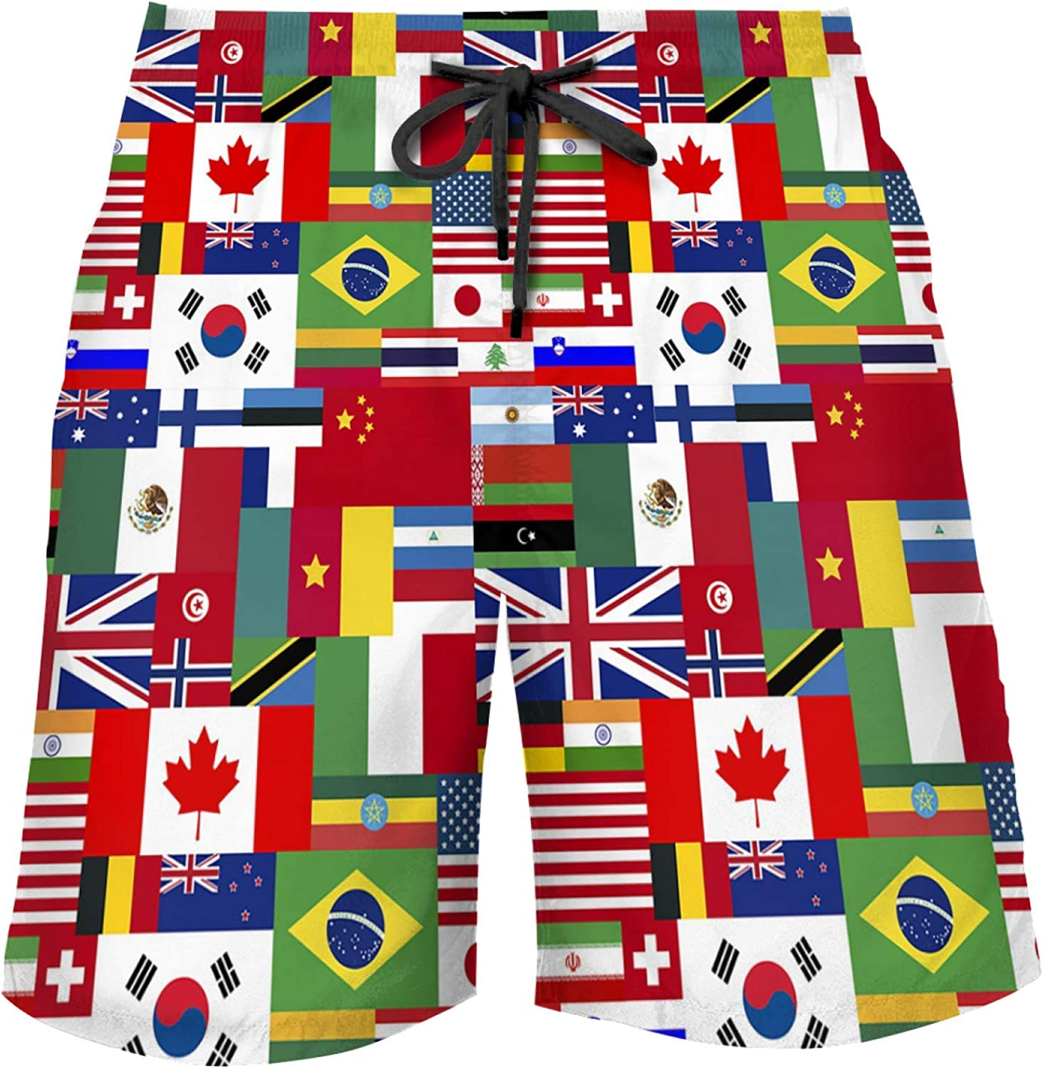 American Flag Swim Trunks,Men's Quick Dry Beach Shorts, Casual Boardshorts,Suitable for Sports Shorts,Running Cool Pants