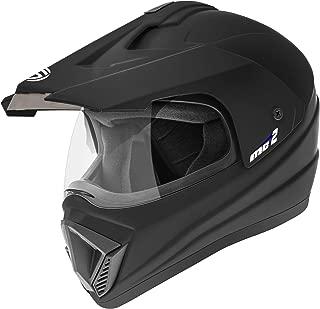 Gliders. Motocross Helmet MC2 (Matt Black with Tinted Visor, 600 mm)