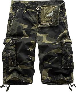 Winoto Mens Camo Cargo Shorts Multi Pockets Camouflage Cargo Short