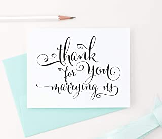Thank You for Marrying Us Card, Wedding Card to Your Officiant, Wedding thank you cards, Priest, Rabbi, Deacon Note Card, 1 Greeting Card with envelopes - Your Choice