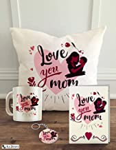"ALDIVO® Gift for Mother | Gift for Mom | Gift for Maa | Combo Pack (12"" x 12"" Cushion Cover with Filler + Printed Coffee M..."