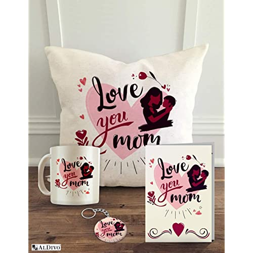 Aldivo 12 X Cushion Cover With Filler Printed Coffee Mug Greeting