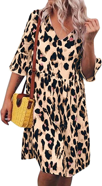 Auxo Women Summer Maxi Dress Spaghetti Strap V Neck Long Dress Casual Loose Sundress