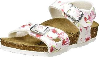 Birkenstock Sandales Rio Birko-Flor Blossom White, Sandali Bambina