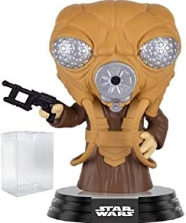Funko Pop! Star Wars: Empire Strikes Back - Zuckuss Vinyl Bobble-Head Figure (Bundled with Pop Box Protector Case)
